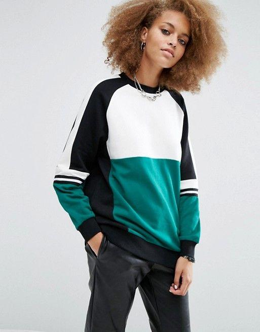 ASOS Sweatshirt With Contrast Panelling $46.00