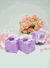 Purple Cherry Blossom Favor Boxes Are Popular Purple Favor Boxes