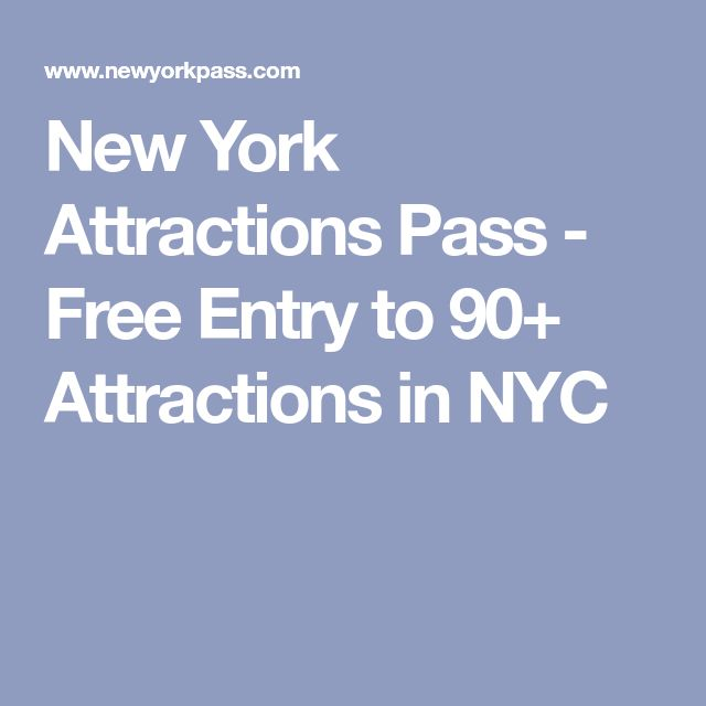 New York Attractions Pass - Free Entry to 90+ Attractions in NYC