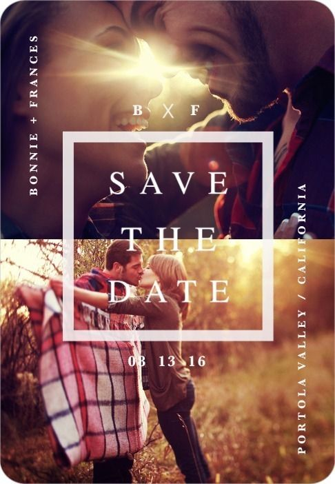 Love this idea for save the date!!