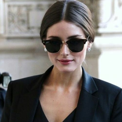 ray ban unisex sunglasses clubmaster  olivia palermo looks stunning in rayban clubmaster rb3016 http://4sun.es/