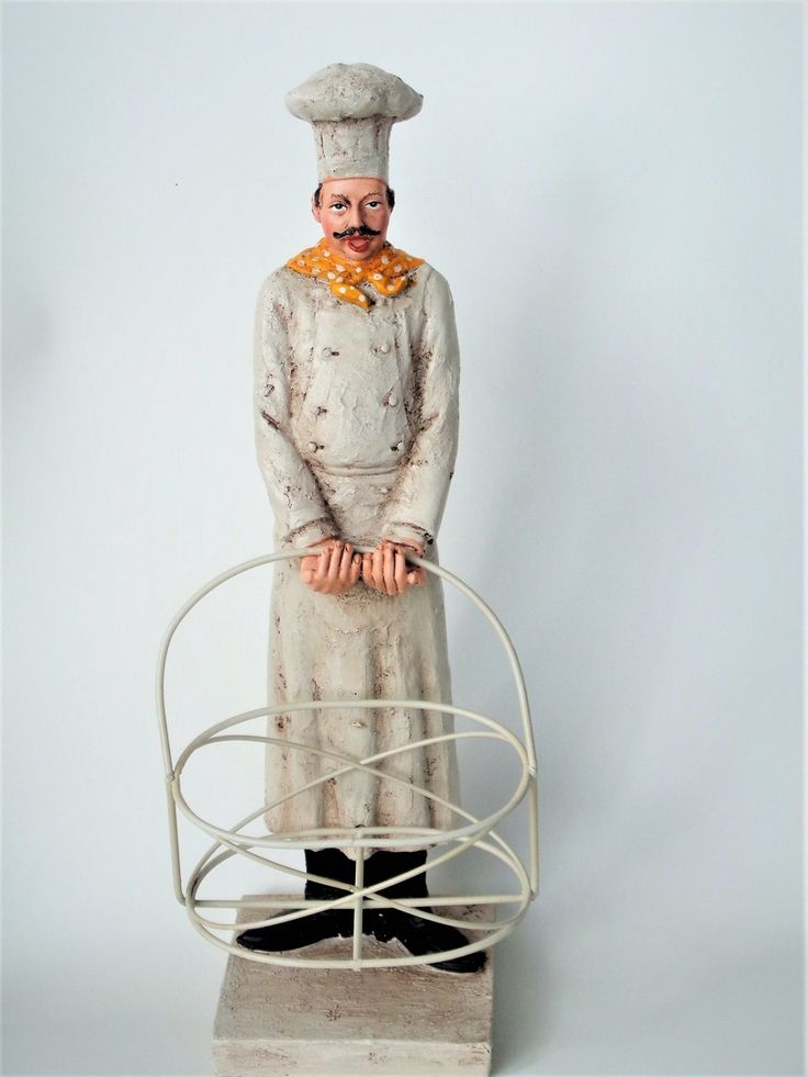 French Chef Figurine With Basket 28 95 Fat Chefs