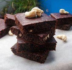 Brownies z červené řepy z ovesné mouky
