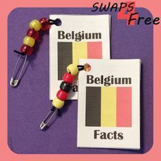 SWAPS4Free: Belgium Fact Book World Thinking Day Girl Scout SWAPS - Free Printable!