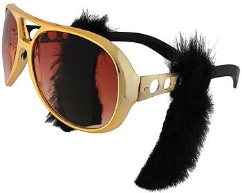 Rock Legend Glasses with Sideburns - Elvis Costume Accessories