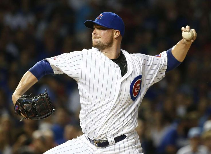 5 stars ready to rebound  -  June 24, 2017:    Chicago Cubs starter Jon Lester throws against the St. Louis Cardinals during the first inning of a baseball game, in Chicago. Lester, Kyle Hendricks and Max Scherzer are competing for the National League Cy Young Award