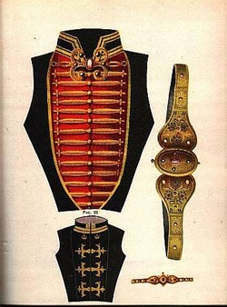 Circassian female chest cover and waist belt.