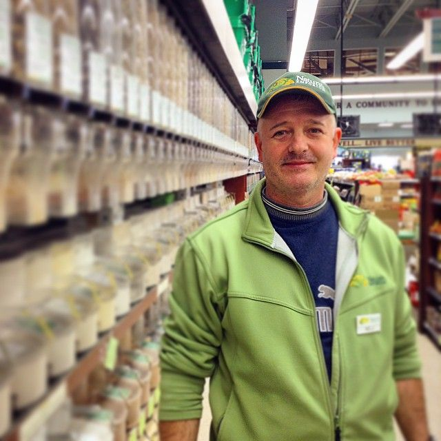 Say hi to Nelu! He is the man behind our beautiful bulk section! #organic #bulkfoods #nutsandseeds #legumes #grains #cereals #trailmix #ourpeople #naturesnewmarket #naturesemporium