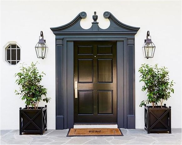 black gloss front door