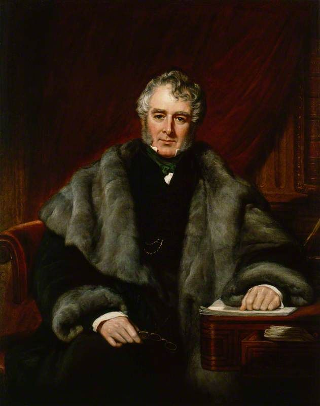 William Lamb, 2nd Viscount Melbourne (born 1779, succeeded 1828, died 1848), painting (1844), by John Partridge (1789-1872).