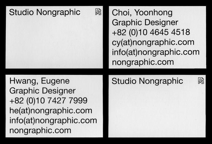 Studio Nongraphic Name Card - CY — Graphic designer