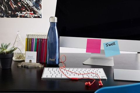 S'well Bottle - Blue Suede Shimmer by S'well | Giving Gifts Canada for fair trade and eco-friendly gifts