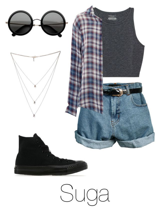 """Amusement Park with Suga"" by btsoutfits ❤ liked on Polyvore featuring Retrò, Current/Elliott, Converse, Isabel Marant and The Row"