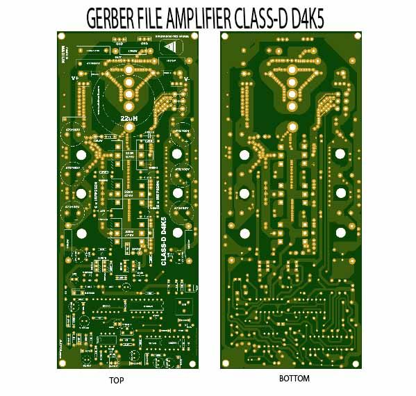 Gerber File Power Amplifier Class-D D4K5 | Amplifier in 2019