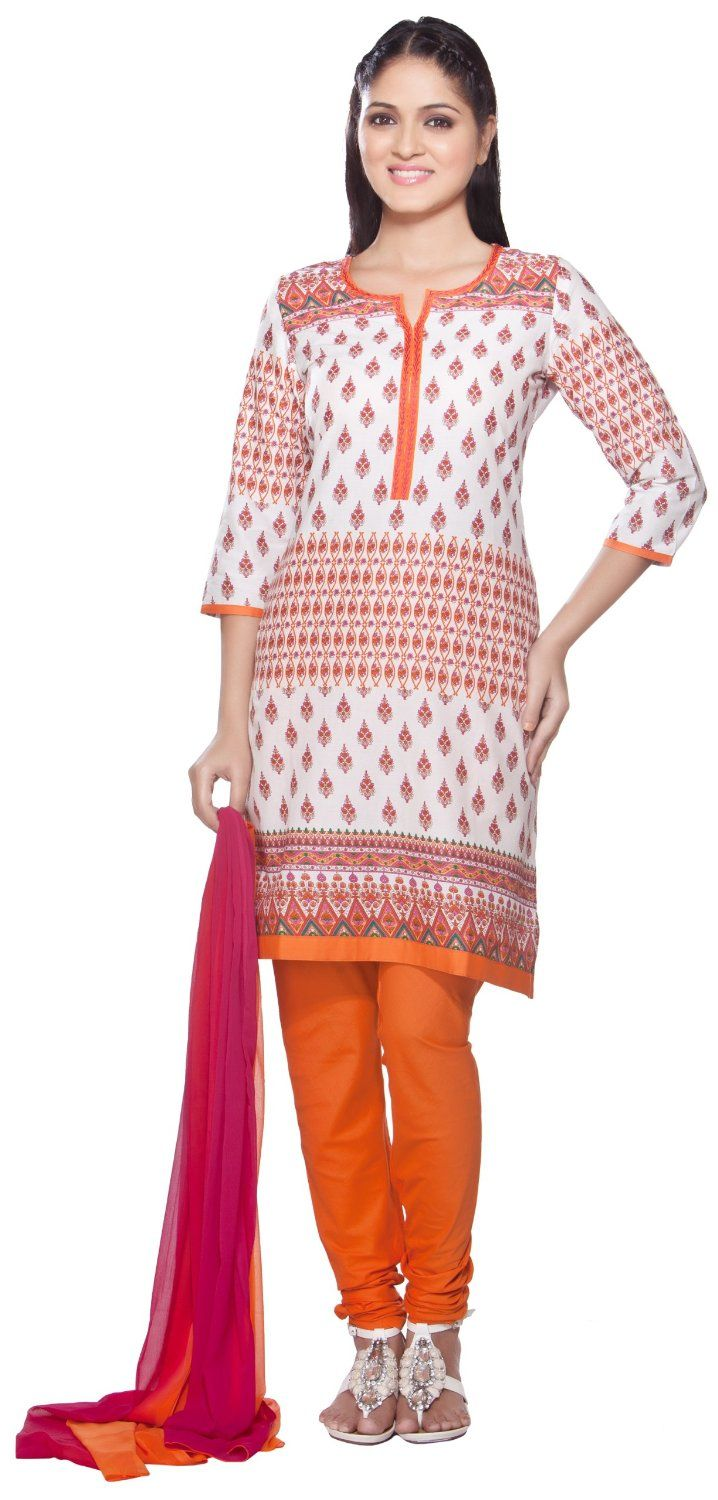Trishaa Womens Indian Ethnic Kurta Tunic with Churidar & Dupatta Set at Amazon Women's Clothing store