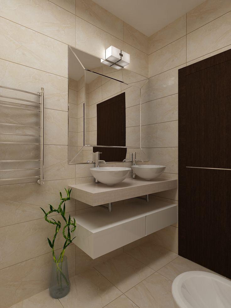 Красивые гармоничные интерьер ванной комнаты - настоящая отдушина и место морального обновления после каждого рабочего дня! Дизайн ванной - студия интерьеров Татьяны Зайцевой.
