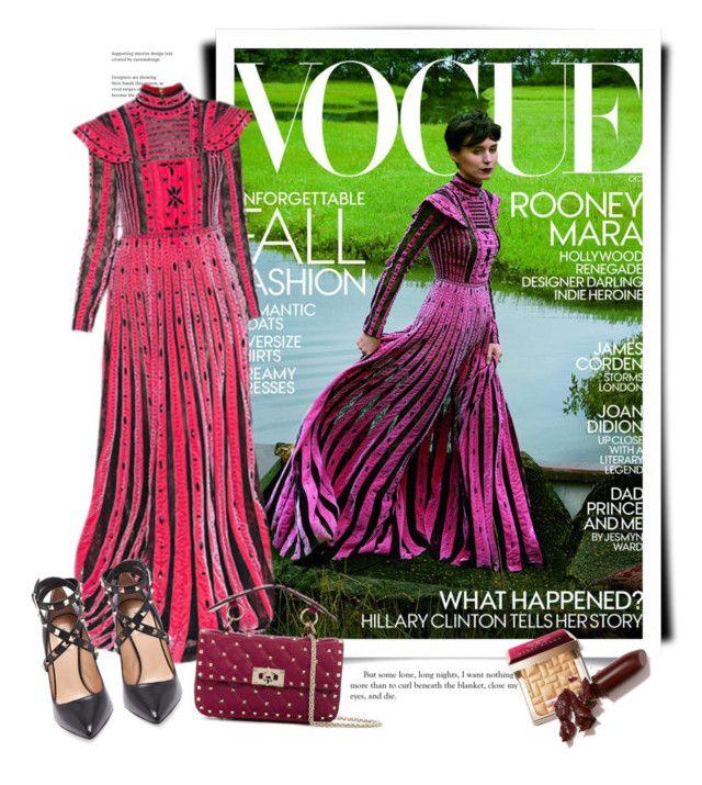 """Valentino Fall 2017 - Vogue"" by sella103 ❤ liked on Polyvore featuring MARA, Valentino, Bobbi Brown Cosmetics, LAQA & Co., valentino and vogue"