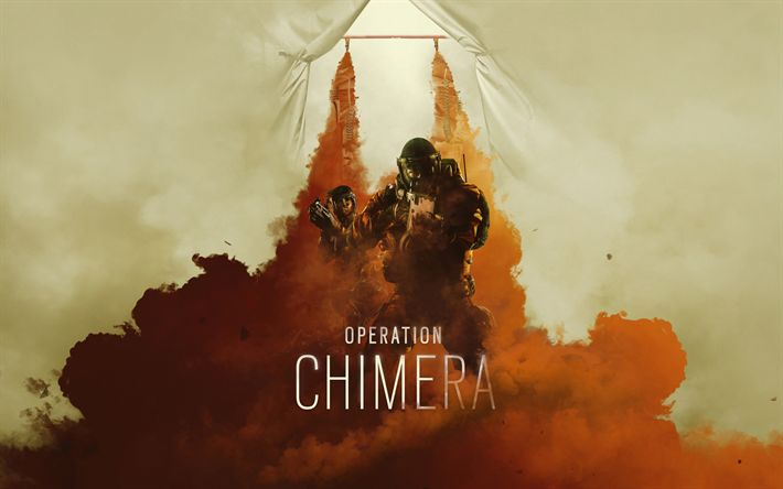 Download wallpapers Tom Clancys, Rainbow Six Siege, Operation Chimera, 2018, poster, new games, 4k