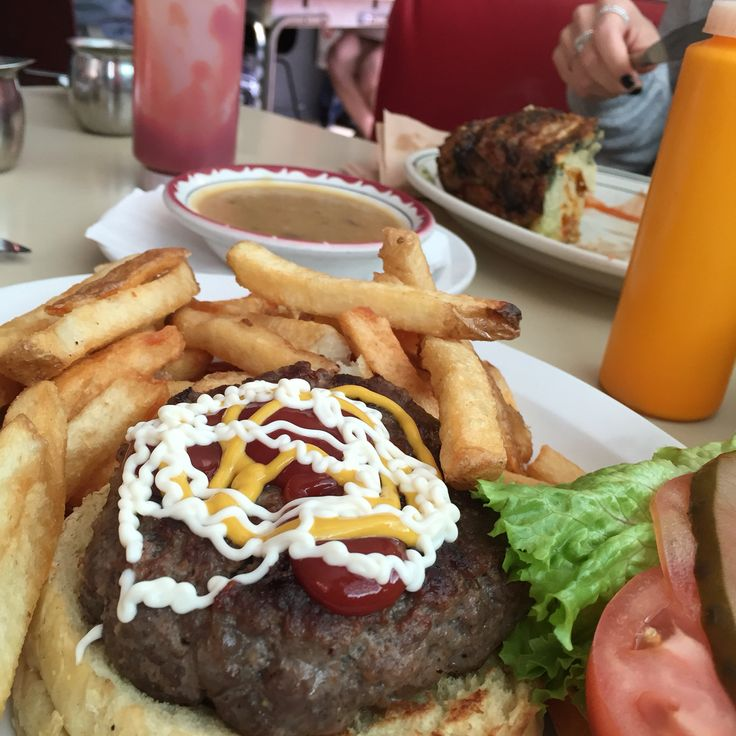Perfectly juicy always a classic diner burger