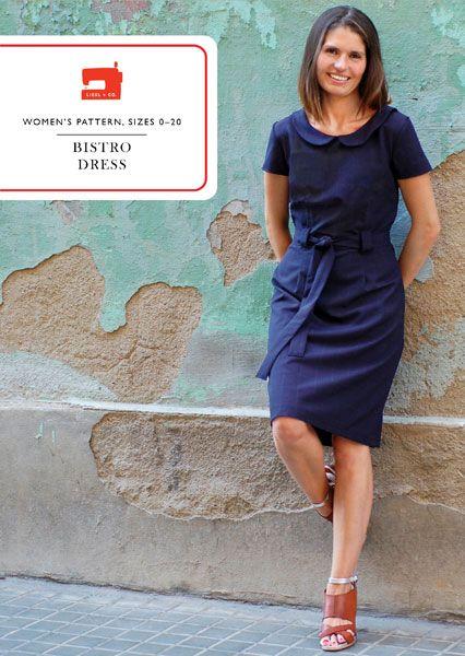 digital bistro dress sewing pattern