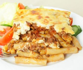 Pastitsio | James Beard FoundationRECIPE  If lasagna seems just too ordinary, try James Beard's version of a Greek pastitsio, a similar dish made with sausage, béchamel sauce, and three types of cheese.