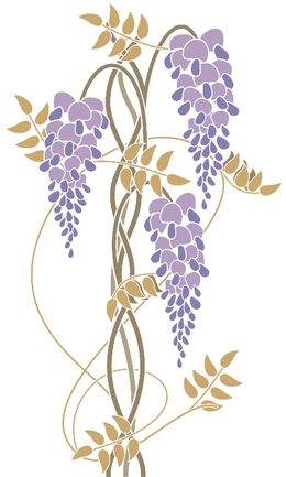 Art nouveau wisteria by rainbowpixels at zippi.co.uk