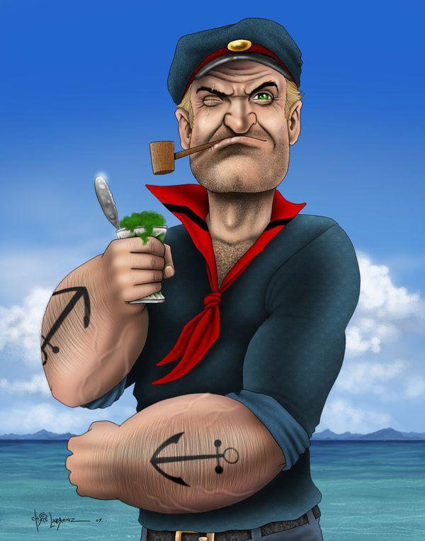 Popeye...in color by LabrenzInk.deviantart.com on @deviantART