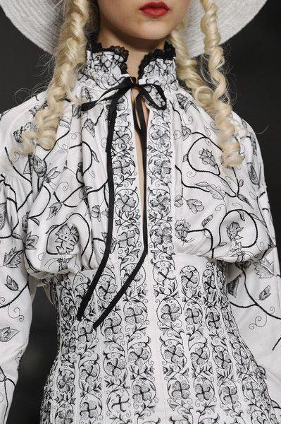 London Fashion Week Meadham Kirchhoff Spring 2014 - Details