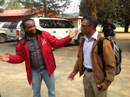 Race DIrector #MandelaMarathon with Celi Makhoba, head KZNA Technical, pre-route tour