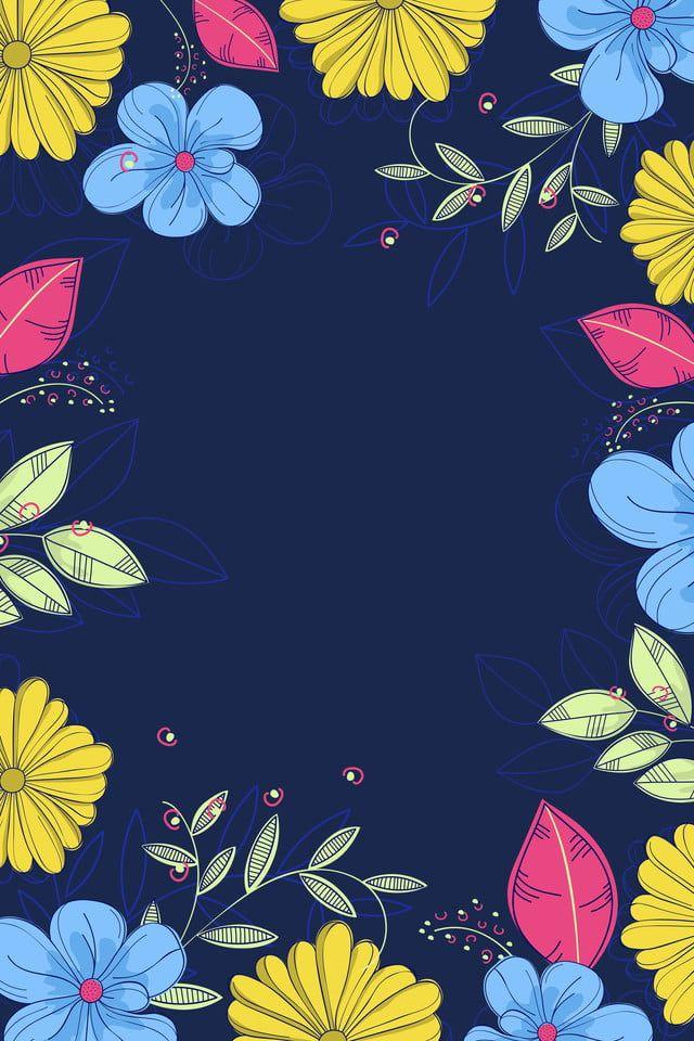 Propaganda Promotion Dark Blue Flower Floral Prints Art Dark Blue Flowers Cherry Blossom Wall Art Blue flower wallpaper cartoon