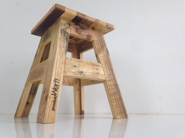 Stool made from wooden pallets