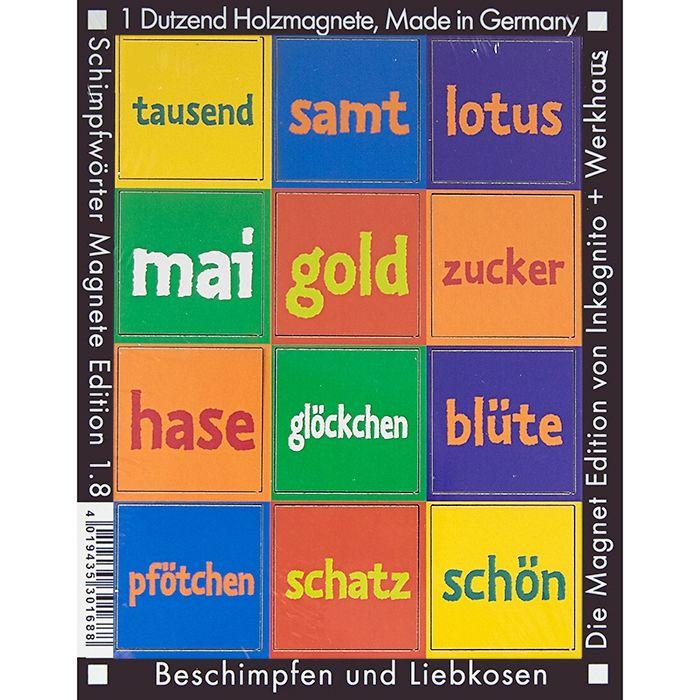 Kosenamen-Magnete  für Tausendzucker und Goldlotus