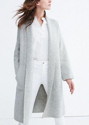 9299595960 madewell rivington sweater coat | style | Sweater coats, Minimalist winter  outfit, Fashion