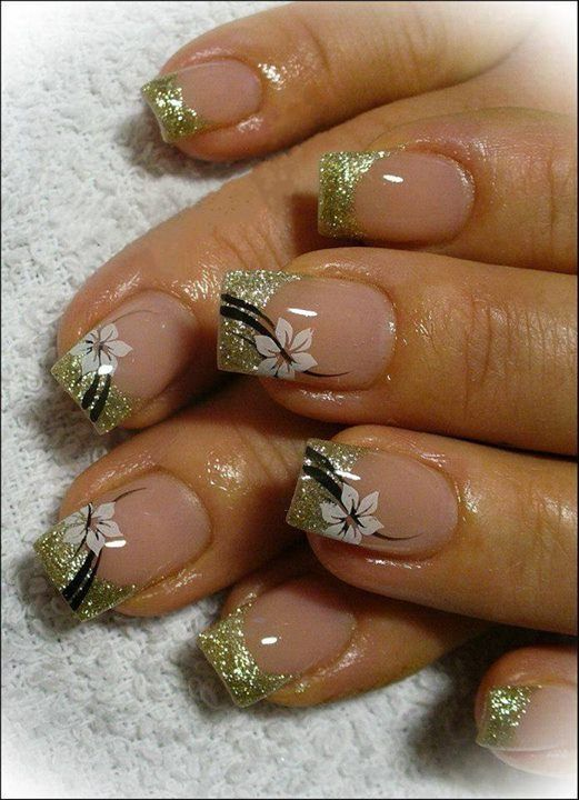 Gold french for summer :)