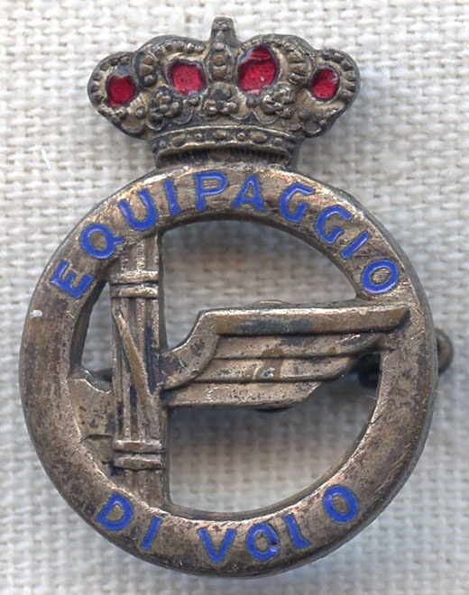 WWII Italian Air Force Officer Crew Member Badge