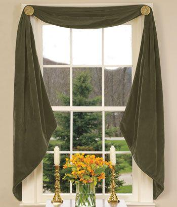 DIY:ミシンを使わないカーテンの作り方いろいろ   Interior Design Box ... DIY:いろいろなスワッグカーテンの作り方と飾り方 dogbed