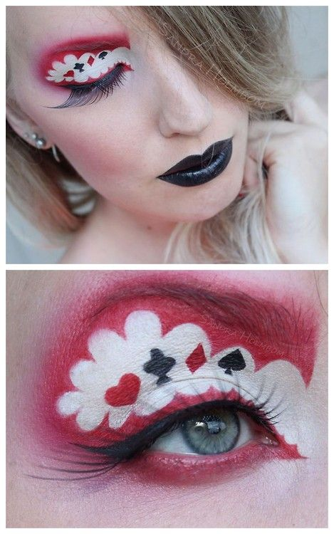DIY Inspiration: Queen of Hearts Makeup by Sandra Holmbom. Lots more photos and a list of products used at the link. For more Sandra Holmbom makeup I've posted go here.