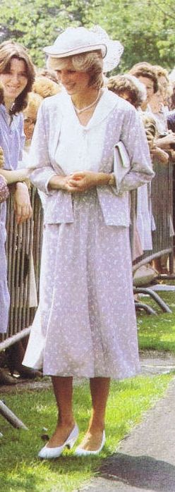July 12, 1983: Princess Diana at the opening of a new Psychiatric Unit, named after the Spencer family, at St Andrews Hospital, Northampton.