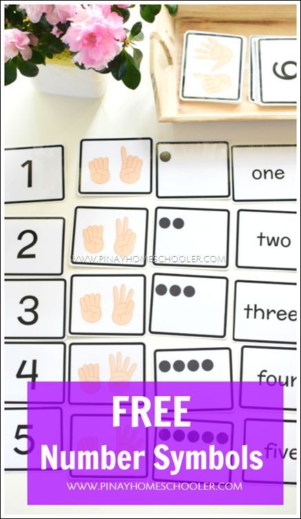 Free Number Symbols For Counting And Number Recognition Teaching