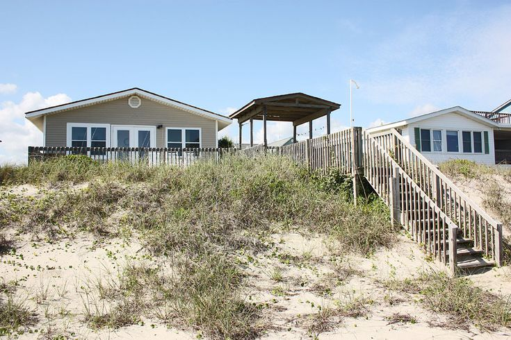 Reasonable 5 bedroom oceanfront at Oak Island. We stayed here May 2015.