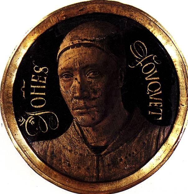 ФУКЕ ЖАН,Автопортрет,Тур,ок.1420-1477/ 81,Гравировка золотом по меди,черная эмаль,диаметр 6,8 см.Художественное ремесло;поступила в Лувр в 1861г.