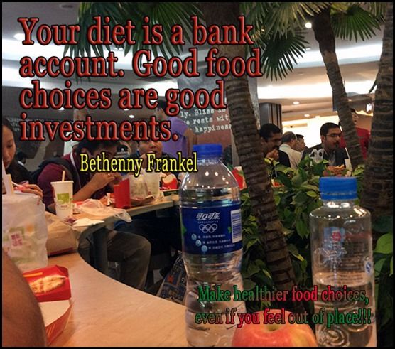 Your Diet is your Bank Account