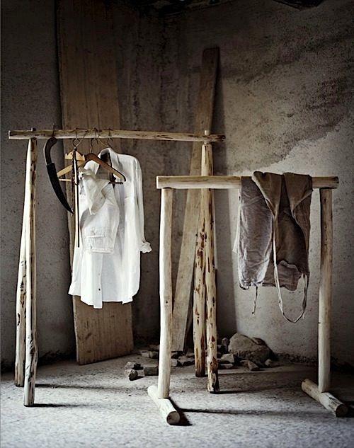 WABI SABI Scandinavia - Design, Art and DIY.: Clothing racks Wabi Sabi Style