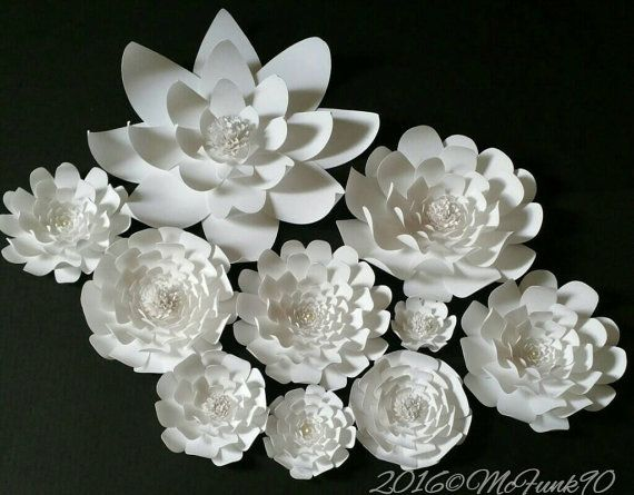 Weddings Large Paper Flowers in the colors of your от mcfunk90