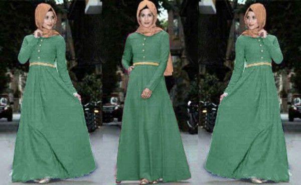 Baju dress muslim terbaru maxi rosa Kl03 tosca