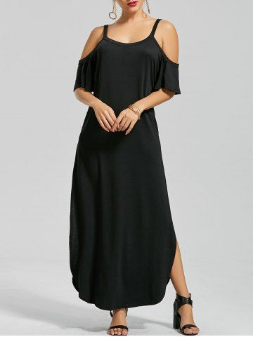 GET $50 NOW | Join RoseGal: Get YOUR $50 NOW!http://www.rosegal.com/maxi-dresses/slit-pockets-maxi-cold-shoulder-1195079.html?seid=9320315rg1195079