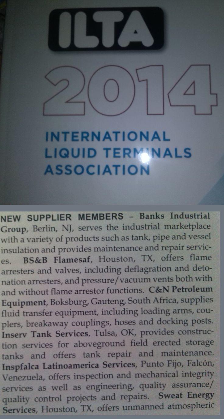 Proud members of the ILTA (International Liquid Terminals Association)