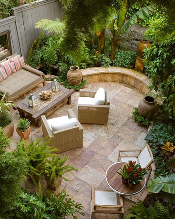 Image result for small courtyard designs