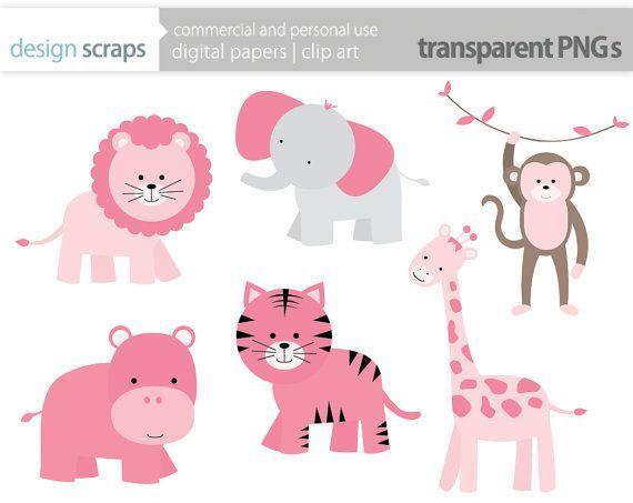 clip art pink giraffes - Google Search