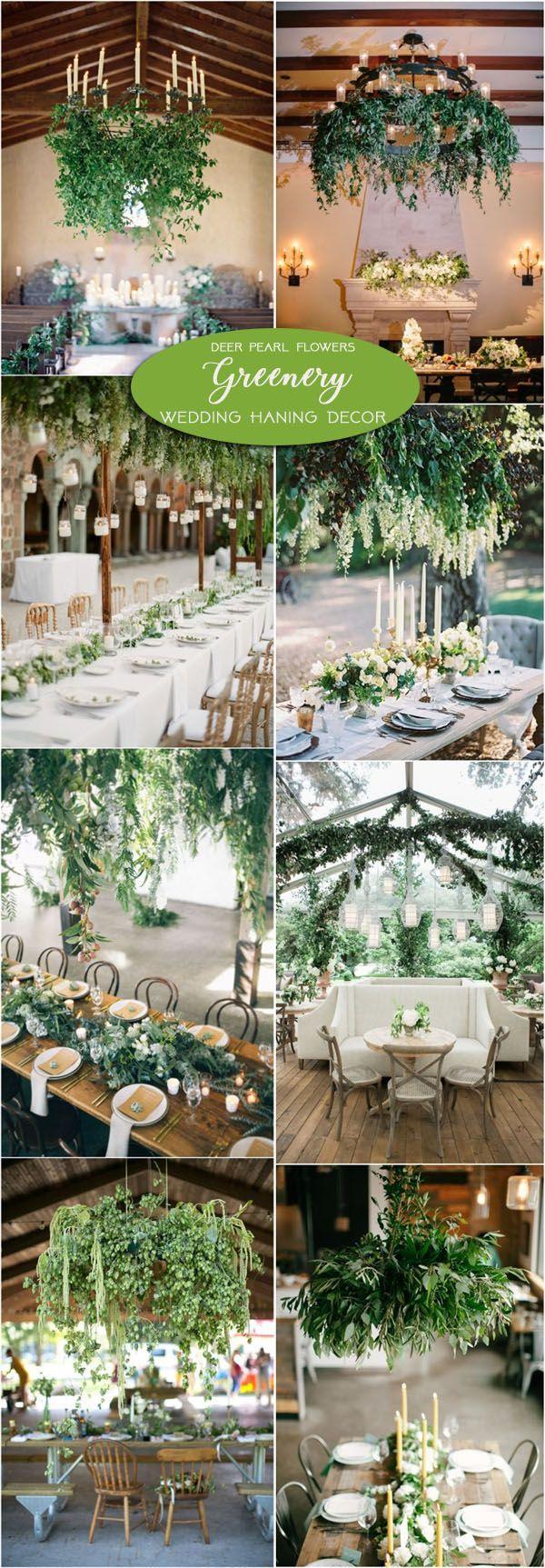 Greenery wedding hanging decor ideas / http://www.deerpearlflowers.com/greenery-wedding-decor-ideas/2/
